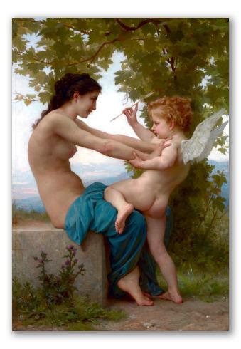 Joven Defendiéndose de Eros