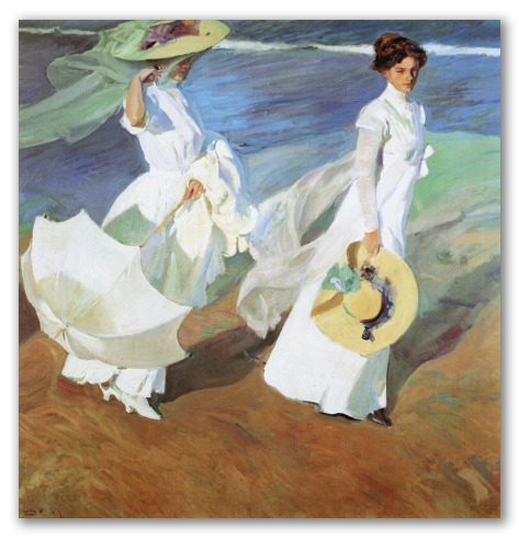 Women Walking on the Beach