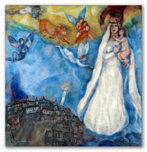 """Cuadro """"La Virgen de la aldea"""""""