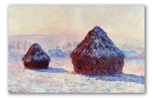 Pilas de Trigo en la Nieve