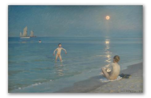 """""""Niños Bañándose en Skagen"""" de Krøyer"""