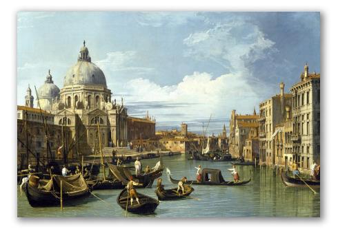 """""""La Entrada al Gran Canal de Venecia"""" de Canaletto"""