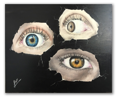 "Cuadro ""Pulsión escópica"" de Rocío Arias"
