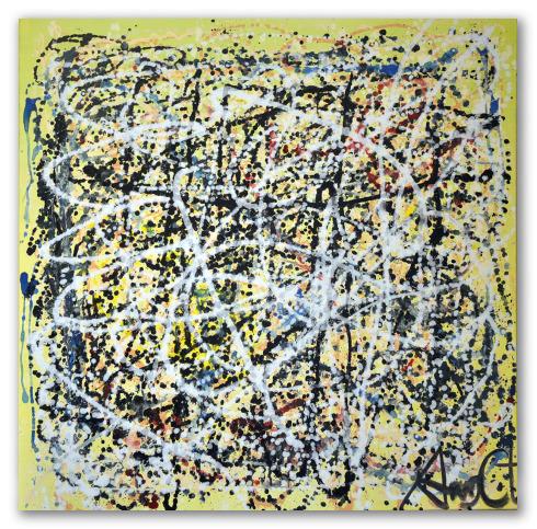 """""""Homenaje a Pollock"""", pinturas de Ángeles Croxatto"""