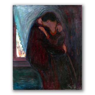 """""""El beso"""" de Edvard Munch"""