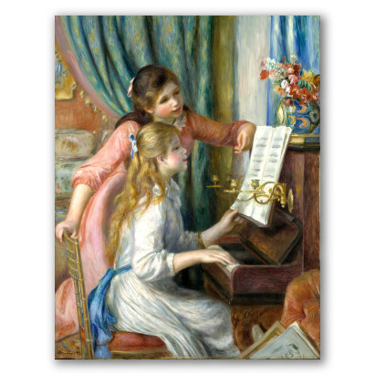 Dos niñas al piano