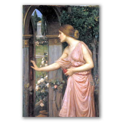 Psique Abriendo la Puerta al Jardín de Cupido